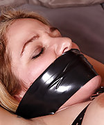 Bound with belts, tape-gagged and vibed