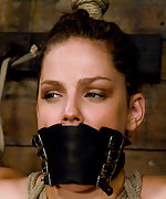Bobbi roped, strapped, gagged and vibed