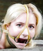 Beautiful blond roped and humiliatingly trained
