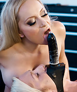 Blond roped, penis-gagged, used and electro-teased