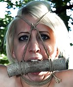 Captured in the park, roped, suspended, used
