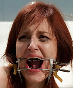 Redhead doctor gets bound and tortured by her patient