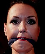 Petra chair-tied, cleave-gagged, tit-grabbed