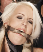 Beautiful blonde tied for first time, clamped and spanked to orgasm