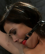 Bound spread, pussy flogged, nipples tortured, made to cum